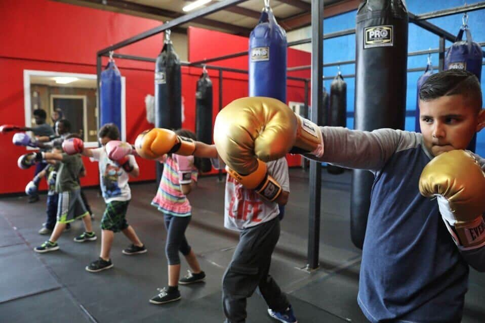 Children Boxing Class at Bakersfield Boxing Club