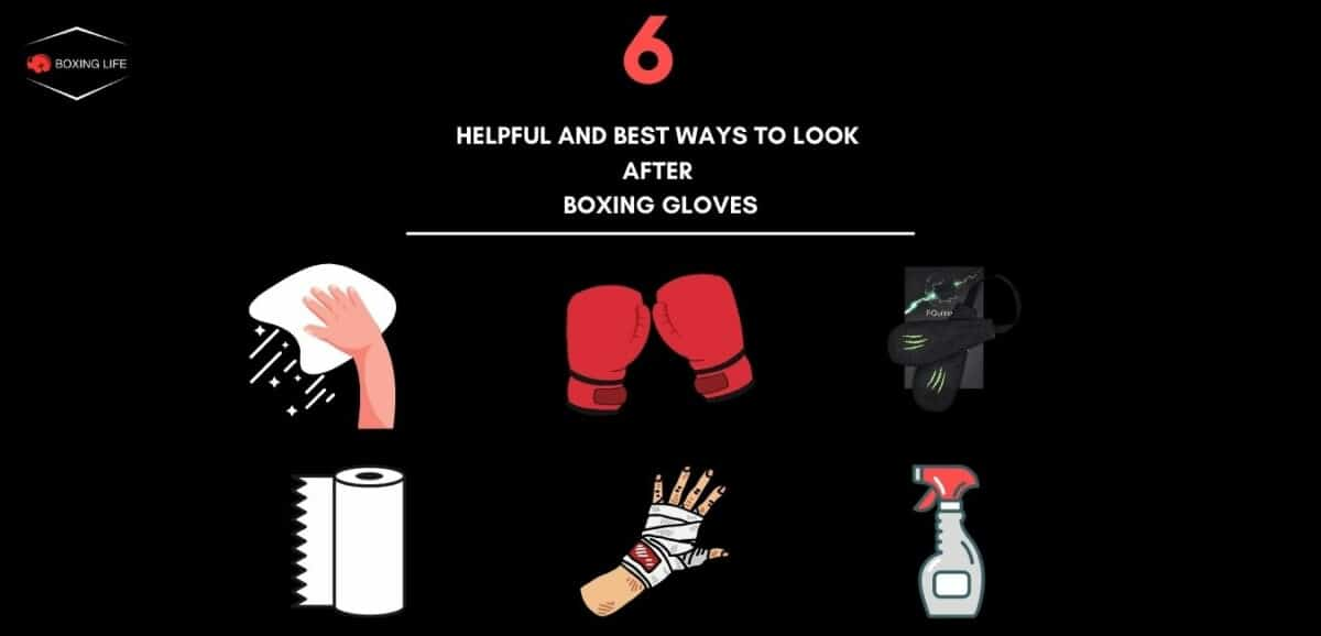 Helpful ways to clean and look after boxing gloves