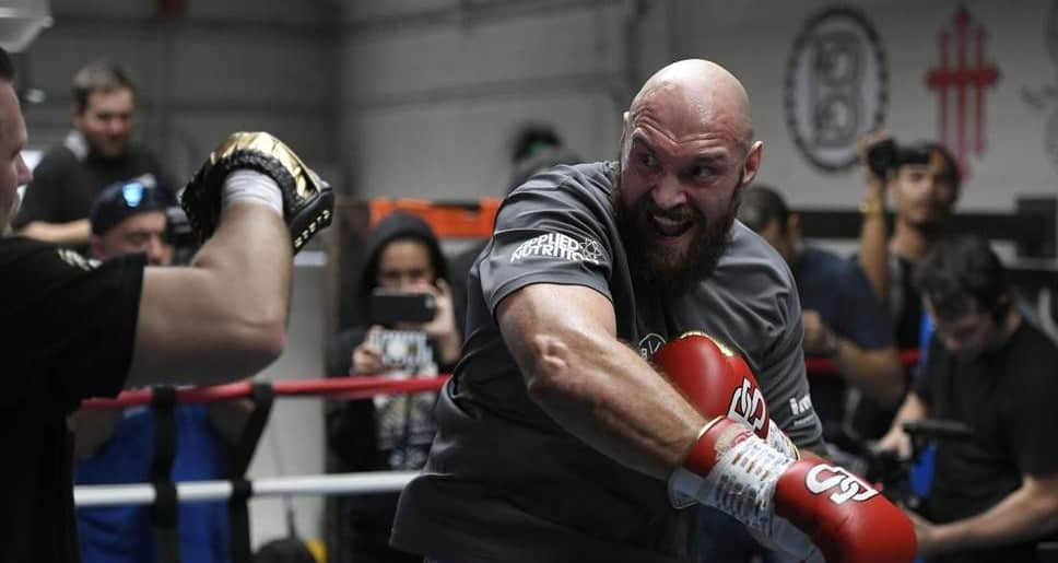 Tyson Fury Training and keeping up his routine
