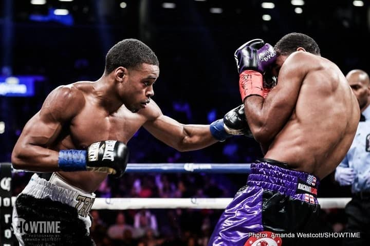 Errol Spence against Lamont Peterson