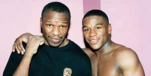 Floyd Mayweather Snr and Jr