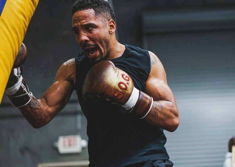 Andre ward training the heavy bag