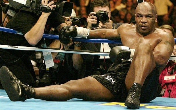 Mike Tyson Knocked down
