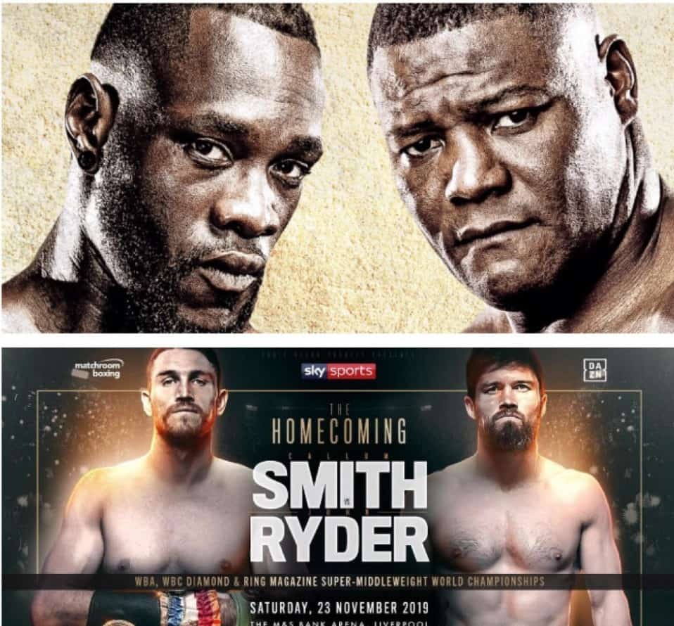 Wilder vs ortiz and Smith vs Ryder