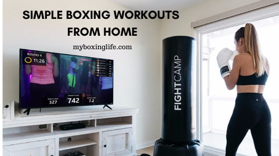 Simple boxing workouts from home