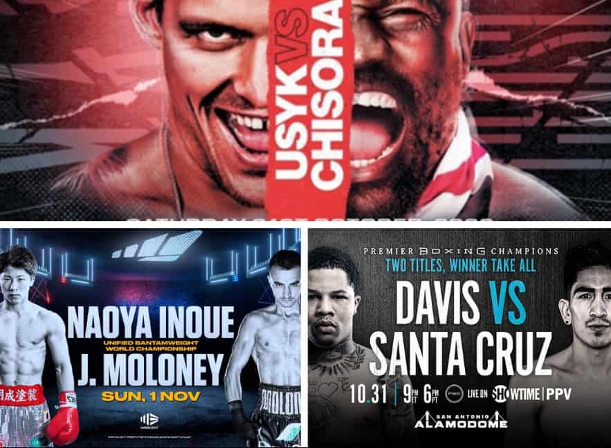 Weekend Fight Preview - Usyk vs Chisora | Inoue vs Moloney | Davis vs Santa Cruz