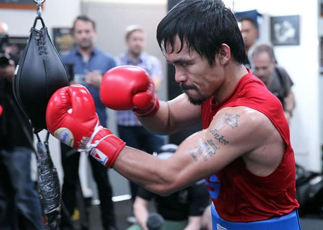 what is double end bag | Pacquiao