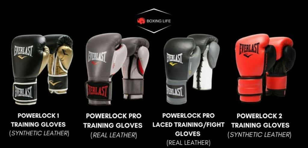 Everlast Powerlock Boxing Gloves differences